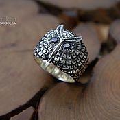 Украшения handmade. Livemaster - original item Ring OWL. Handmade.