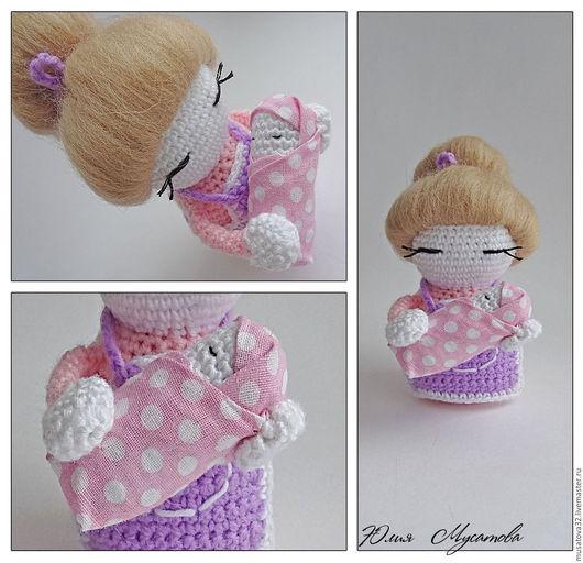 Миниатюра ручной работы. Ярмарка Мастеров - ручная работа. Купить Вязаная кукла Мылышка-Мамочка. Handmade. Кукла