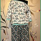 Одежда ручной работы. Ярмарка Мастеров - ручная работа Женский костюм  для дома. Handmade.