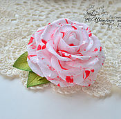 """Украшения ручной работы. Ярмарка Мастеров - ручная работа Заколка с розой """"Роза далматин"""". Handmade."""
