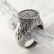 Украшения ручной работы. Ярмарка Мастеров - ручная работа Пень - кольцо из серебра. Handmade.