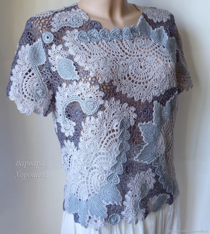 Кружевная вязаная блузка, Кофты, Старый Оскол,  Фото №1