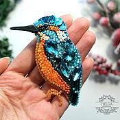 Украшения handmade. Livemaster - original item Brooch pin: Kingfisher bird. Handmade.