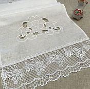 Для дома и интерьера handmade. Livemaster - original item Towel linen white