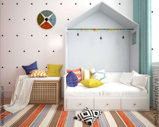 Детская ручной работы. Ярмарка Мастеров - ручная работа. Купить Кроватка для детей №14. Handmade. Белый, кровать, кровать из массива