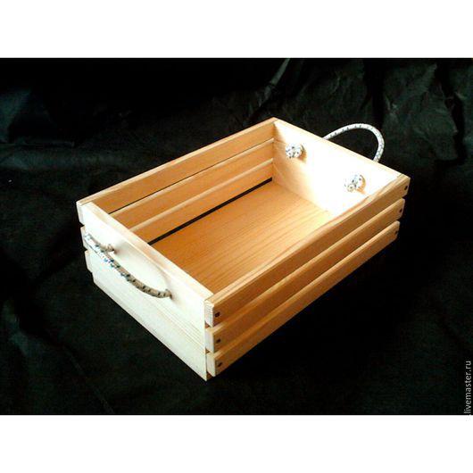 Корзины, коробы ручной работы. Ярмарка Мастеров - ручная работа. Купить декоративный ящик (м-5). Handmade. Желтый, эко