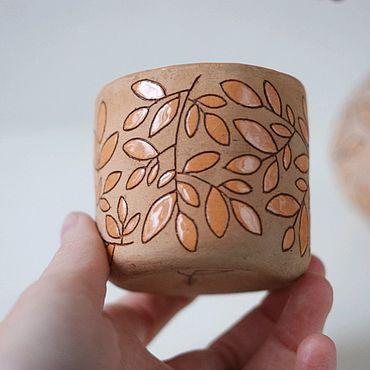 Посуда ручной работы. Ярмарка Мастеров - ручная работа чайная чашечка лесная. Handmade.