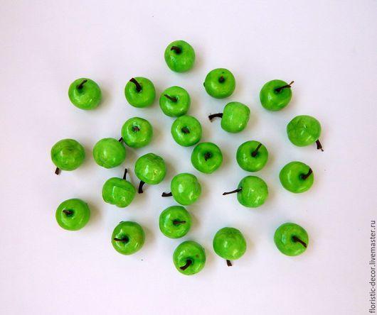 Материалы для флористики ручной работы. Ярмарка Мастеров - ручная работа. Купить Яблоки искусственные, фрукты 2,5 см.. Handmade.