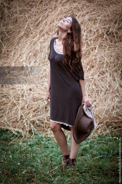 """Платья ручной работы. Ярмарка Мастеров - ручная работа. Купить Платье """" Струны моей души"""". Handmade. Коричневый"""