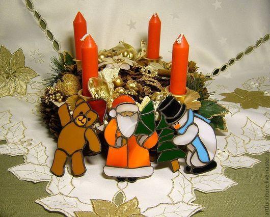 Новый год 2017 ручной работы. Ярмарка Мастеров - ручная работа. Купить Новогодние подарки игрушки на елку - набор елочных игрушек украшений. Handmade.