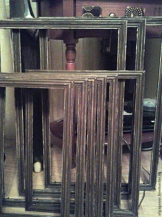 Фоторамки ручной работы. Ярмарка Мастеров - ручная работа. Купить Багеты состаренные деревянные на заказ (ХИТ). Handmade. Багет, на заказ