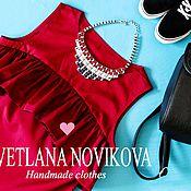 Одежда ручной работы. Ярмарка Мастеров - ручная работа Блуза цвета MARSALA. Handmade.