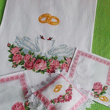 Свадебный салон ручной работы. Ярмарка Мастеров - ручная работа Венчальный набор. Handmade.