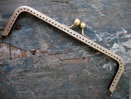 Для украшений ручной работы. Ярмарка Мастеров - ручная работа. Купить Фермуар 19 см х 8 см прямоугольный бронза. Handmade.