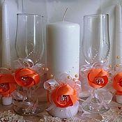 Свадебный салон handmade. Livemaster - original item wedding set of mysterious flowers. Handmade.