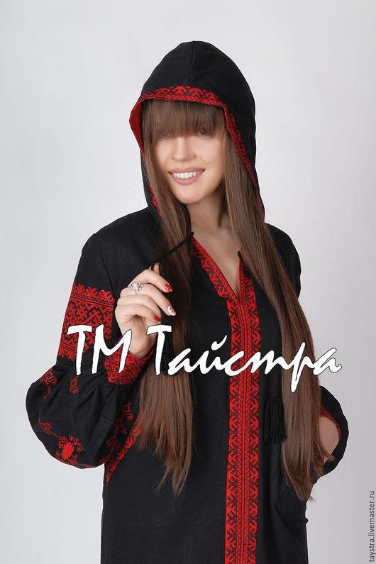 Платья ручной работы. Ярмарка Мастеров - ручная работа. Купить Платье с капюшоном в Бохо-стиле,этно стиль  Vita Kin,Bohemian. Handmade.