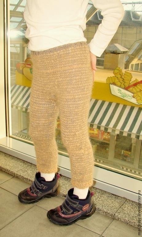Штаны вязаные вручную «Нежное Чудо» детские для холодной ...