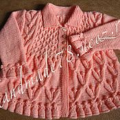 """Работы для детей, ручной работы. Ярмарка Мастеров - ручная работа Жакет-пальто """"Цветочные побеги"""". Handmade."""