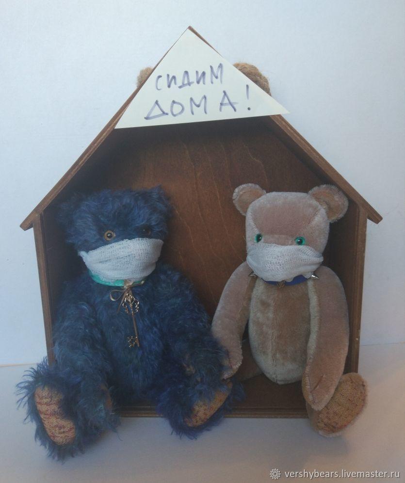Teddy bears: bear Quarantine and bear self-Isolation, Teddy Bears, Moscow,  Фото №1