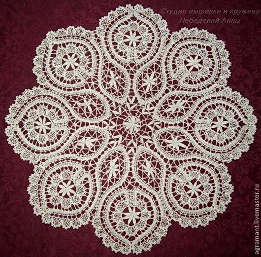 Текстиль, ковры ручной работы. Ярмарка Мастеров - ручная работа. Купить Салфетка д.41 Елецкое кружево. Handmade.