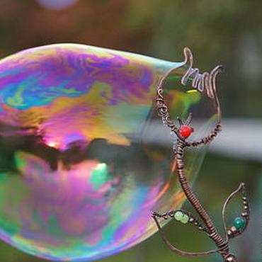 Сувениры и подарки ручной работы. Ярмарка Мастеров - ручная работа палочка для мыльных пузырей Тюльпан (мыльные палочки из меди). Handmade.