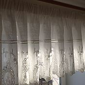 Для дома и интерьера handmade. Livemaster - original item Pelmet linen with cambric embroidery
