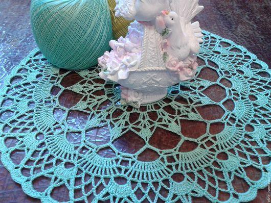 Текстиль, ковры ручной работы. Ярмарка Мастеров - ручная работа. Купить Салфетка. Handmade. Мятный, ручная работа