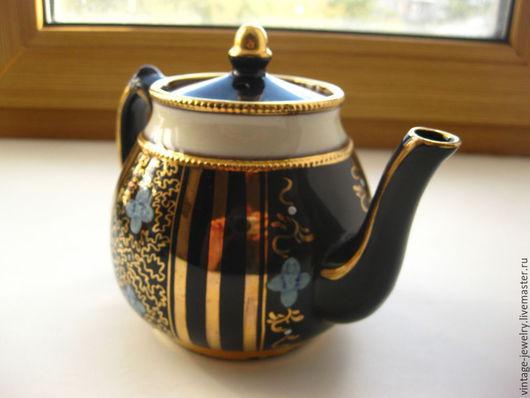 Винтажная посуда. Ярмарка Мастеров - ручная работа. Купить Чайник заварочный винтажный, Англия, чаепитие, синий, цветочный. Handmade.