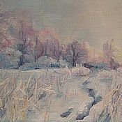 Картины и панно ручной работы. Ярмарка Мастеров - ручная работа Морозный рассвет. Handmade.