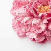 Украшения ручной работы. Ярмарка Мастеров - ручная работа Валяный цветок Пион. Handmade.