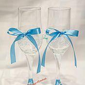 """Свадебный салон ручной работы. Ярмарка Мастеров - ручная работа Свадебные бокалы """" Нежность"""". Handmade."""