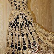 Одежда handmade. Livemaster - original item Fishnet skirt crochet three patterns of jute.. Handmade.