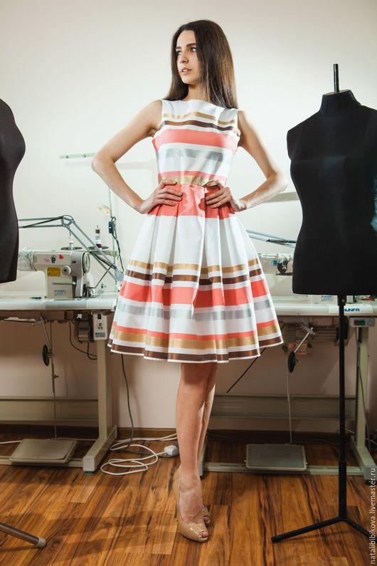 Платья ручной работы. Ярмарка Мастеров - ручная работа. Купить Платье-миди NB607. Handmade. Комбинированный, платье, миди