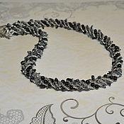 Украшения ручной работы. Ярмарка Мастеров - ручная работа Жгут из обсидиана и черного агата. Handmade.