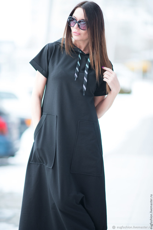 особенно платье из хлопка черного цвета фото образы дизайн