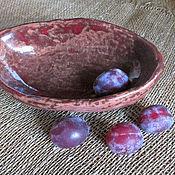 Посуда ручной работы. Ярмарка Мастеров - ручная работа Глиняная конфетница. Handmade.