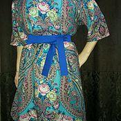 Одежда handmade. Livemaster - original item Dress wool.Dress from Pavloposad. shawls .Pavloposadskie scarves .. Handmade.