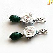 Украшения handmade. Livemaster - original item emerald. Earrings