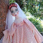 Куклы и игрушки ручной работы. Ярмарка Мастеров - ручная работа Подвижная кукла из папье маше Невеста.... Handmade.