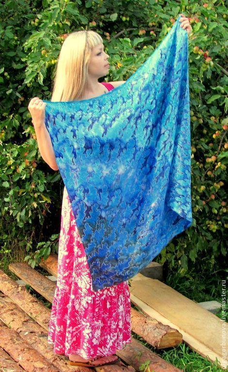 batik scarf 'allemande', Shawls1, Yaroslavl,  Фото №1