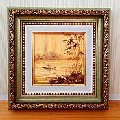 Картины и панно handmade. Livemaster - original item East oil miniature