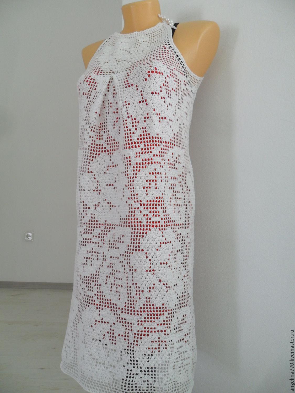 Вязание летнего платья крючком 67