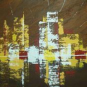 Картины и панно ручной работы. Ярмарка Мастеров - ручная работа Картина-абстракция  Манхеттен. Ночь.. Handmade.