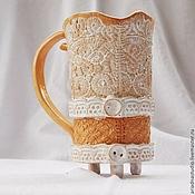 """Посуда ручной работы. Ярмарка Мастеров - ручная работа Кружка из коллекции """"Чаепитие в стиле бохо"""". Handmade."""