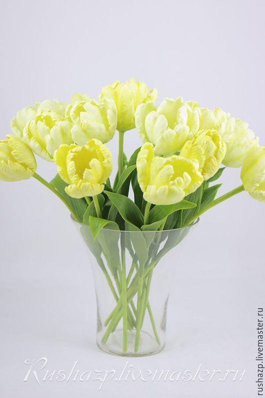 Интерьерные композиции ручной работы. Ярмарка Мастеров - ручная работа. Купить Желтые тюльпаны из полимерной глины. Handmade. Желтый