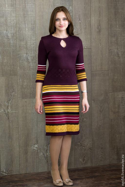 Платья ручной работы. Ярмарка Мастеров - ручная работа. Купить Платье Настена. Handmade. Бордовый, платье на заказ, Платье нарядное