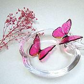 Украшения handmade. Livemaster - original item Butterfly earrings Resin Pink Epoxy Butterfly Jewelry Summer. Handmade.
