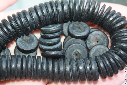 Для украшений ручной работы. Ярмарка Мастеров - ручная работа. Купить Кокосовые диски черные окрашенные, 15 мм. Handmade.