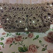 Сумки и аксессуары handmade. Livemaster - original item Cosmetic bag-handbag jute. Handmade.