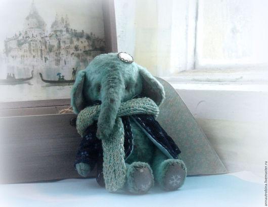 Мишки Тедди ручной работы. Ярмарка Мастеров - ручная работа. Купить Слоник Снежинкин. Тедди. Handmade. Слоник тедди